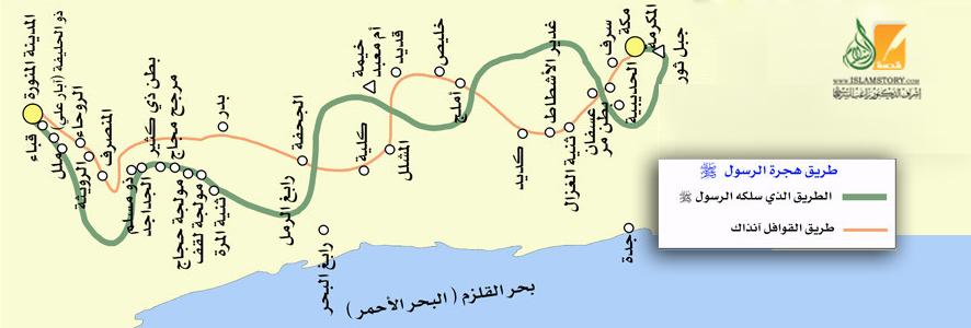 طريق الهجرة من مكة إلى المدينة