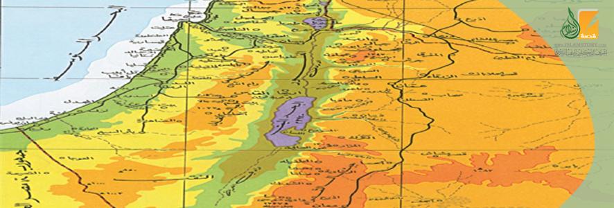 الموقع الجغرافي لفلسطين